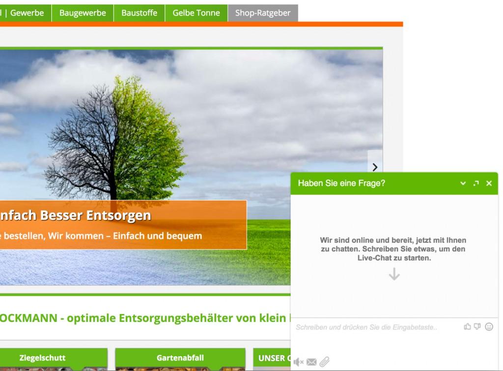 Direkte Kundenberatung im Brockmann-Shop per Livechat