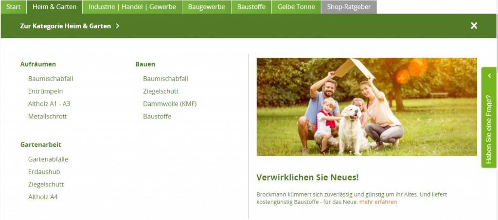 """Brockmann-Shop mit Themenwelt """"Heim und Garten"""""""